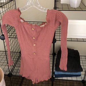 Fashion dusty pink body suit